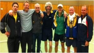 v.L.n.R.: Matthias G., Timo, Jörg, Torsten, Joja, Wolfgang, Matthias M., Es fehlt: Heiko